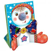 Снеговик-открытка